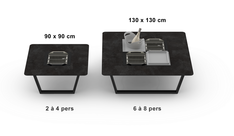 Cevenne table basse taille capacité